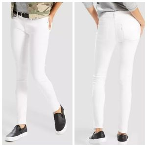 Levi's 711 Skinny midrise jeans white size 29 tall